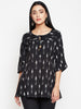 Black Ikat Top For Women Online
