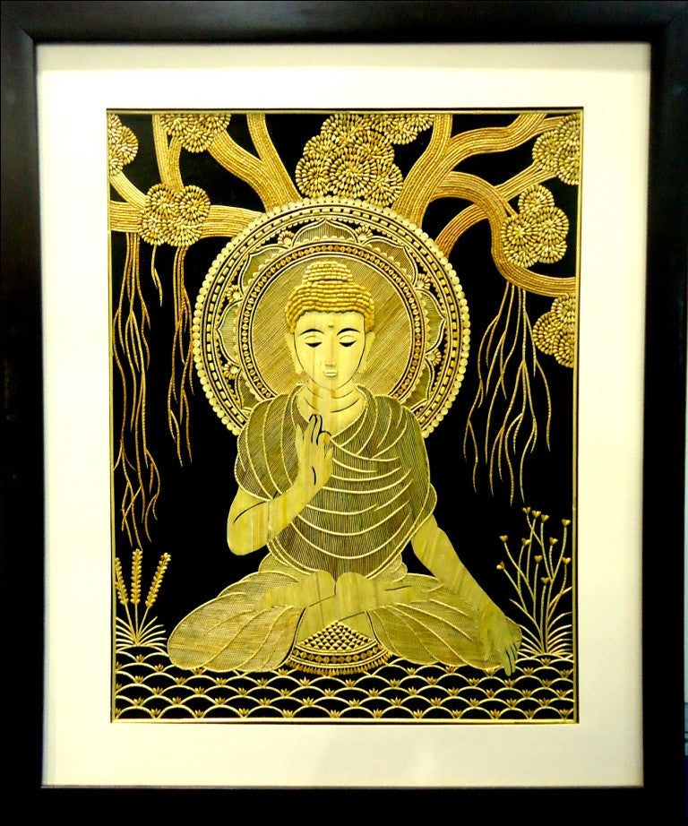 The Buddha under MahaBodhi Tree - Wall Art