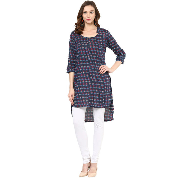 Darzaania Blue Cotton printed Tunic