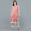 Pink Straight Long Kurta