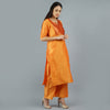 Darzaania Orange Cotton Kurtis for Women