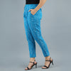 Blue Ikat Pants for Ladies