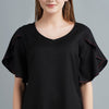 Black Solid Tops for Women Online