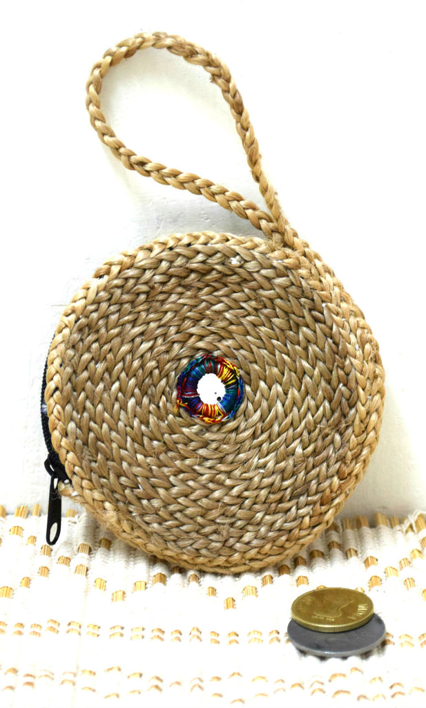 Jute Coin Pouch Round