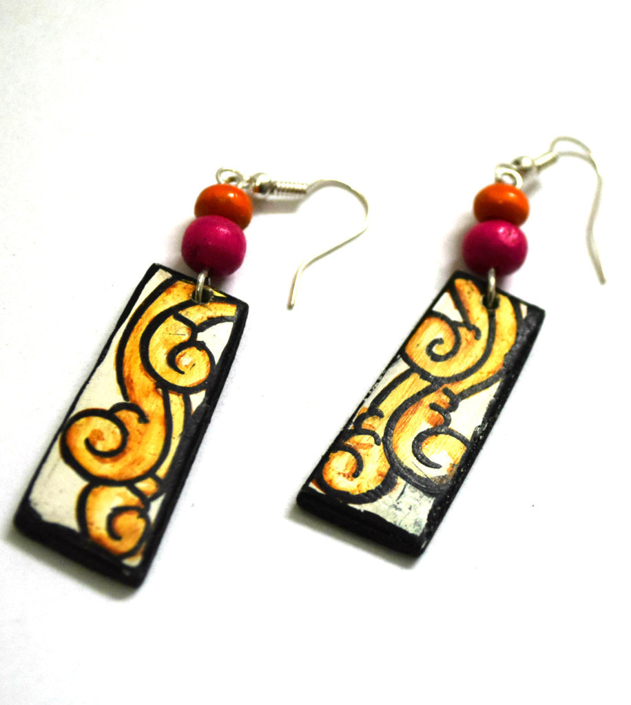 Kerala Mural Handpainted Earrings