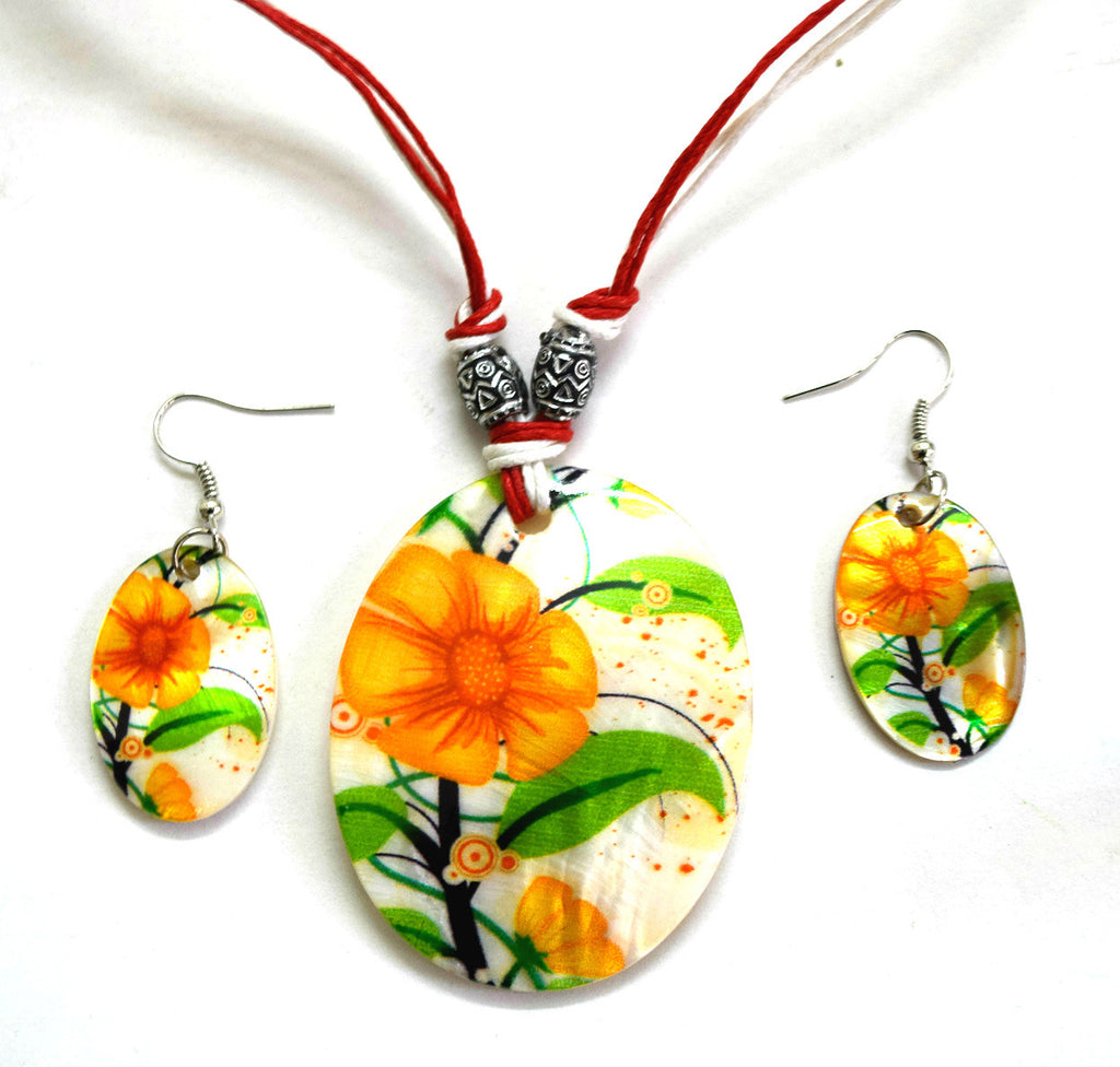 Shell Necklace with Earrings
