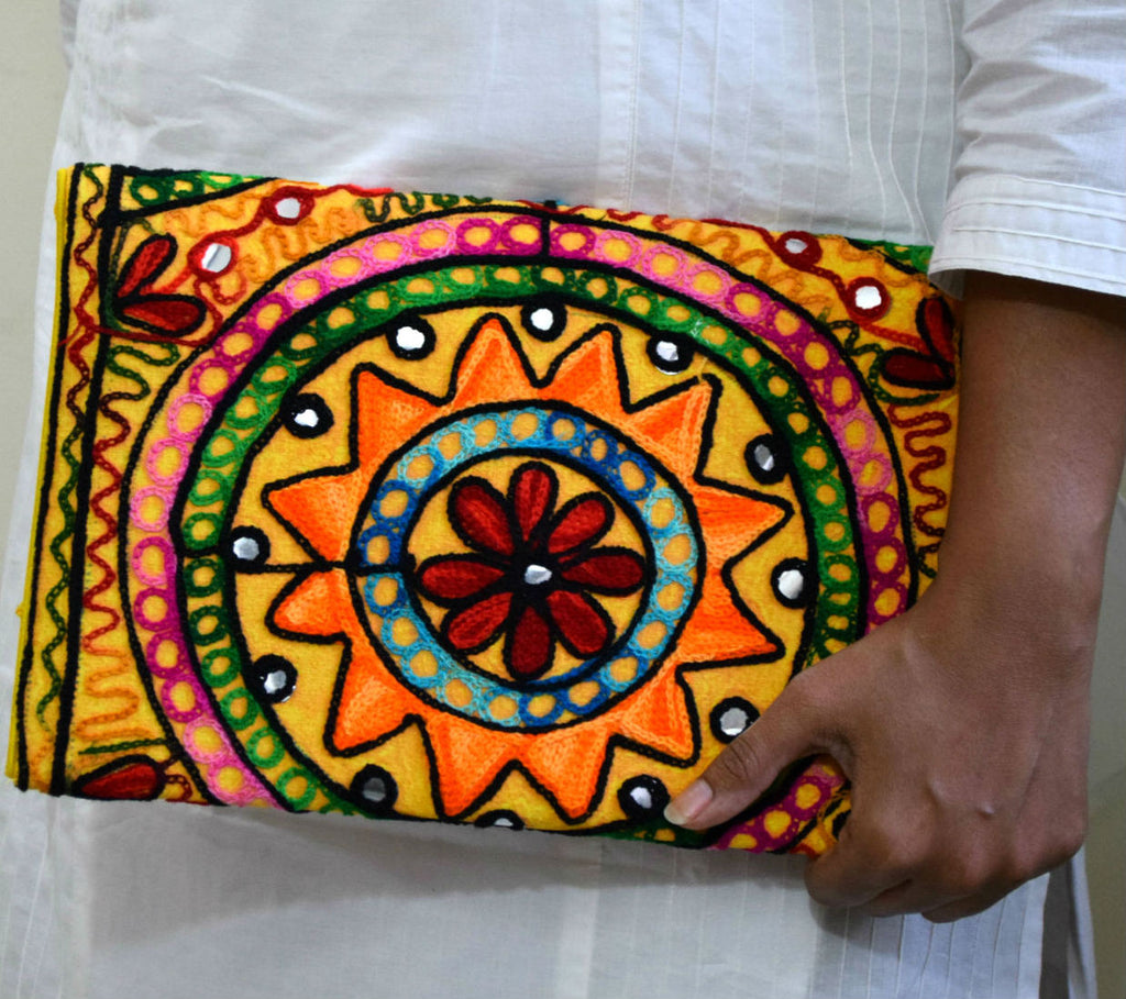 Kutch Embroidered Clutch Sling