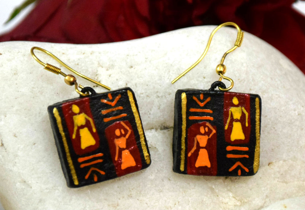 Lady Square Terracotta Earrings