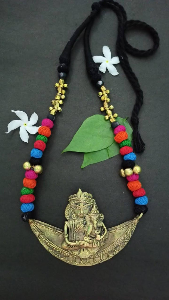 Dhokra Pendant Necklace