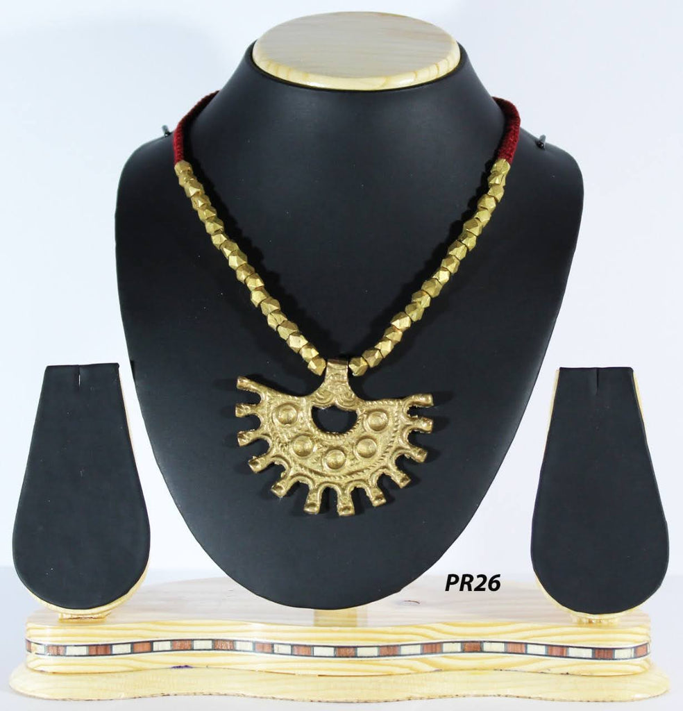 Dhokra Handcasted Pendant Necklace