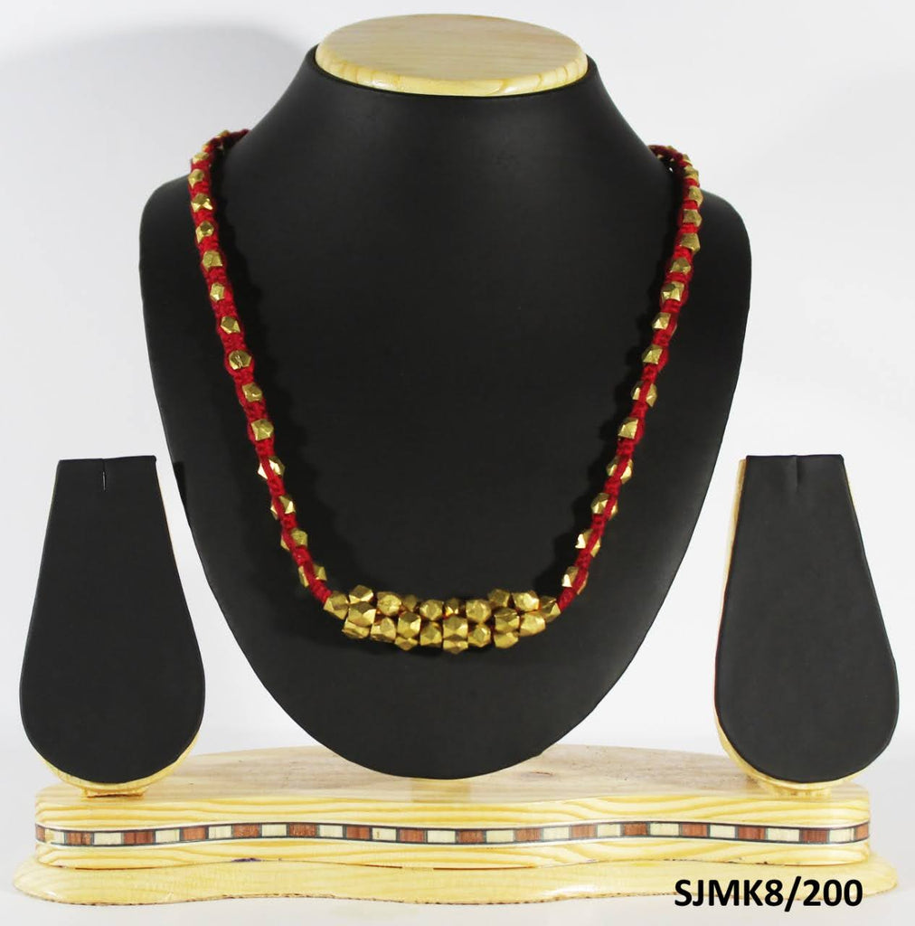 Dhokra Brass Beaded Necklace