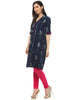 Dabu Indigo Kurta for women