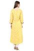 Yellow Anarkali Handloom Kurta by CraftsandLooms