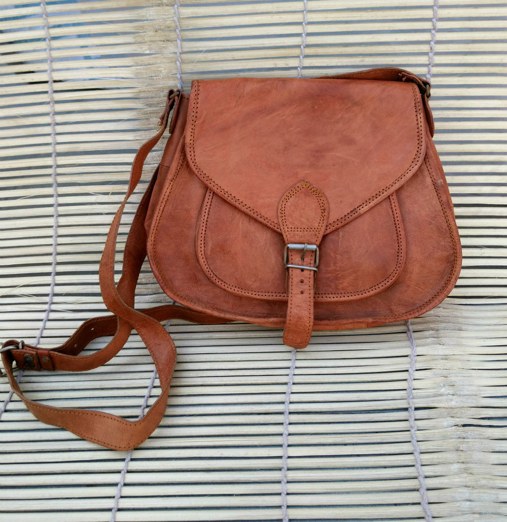 Leather Satchel Handmade Bag