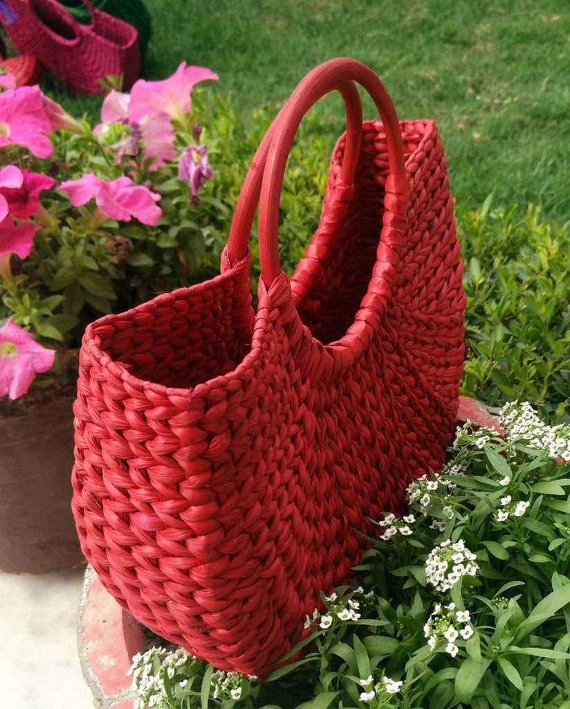 Red Small Handbag - Kouna Craft