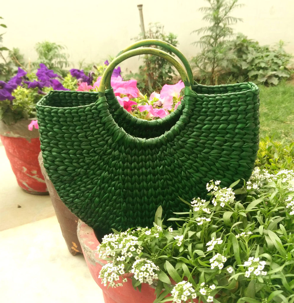Green Small Handbag - Kouna Craft