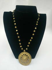 Long Round Dokra Necklace
