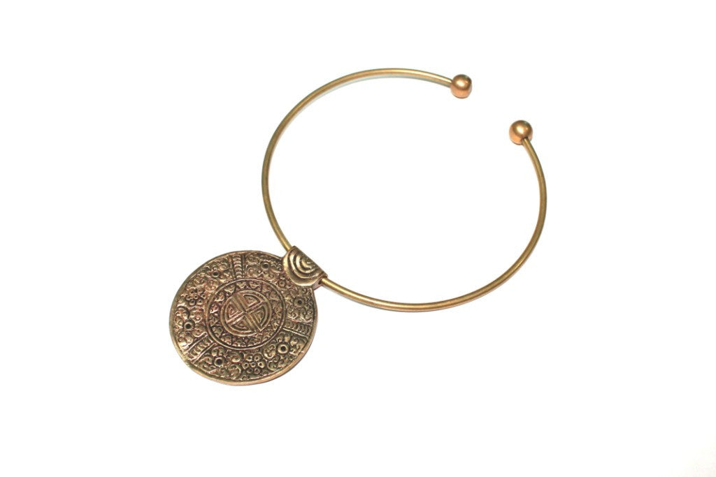 Round Brass Necklace