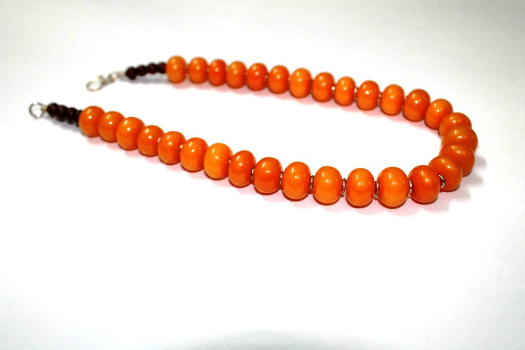 Divine Orange O Necklace