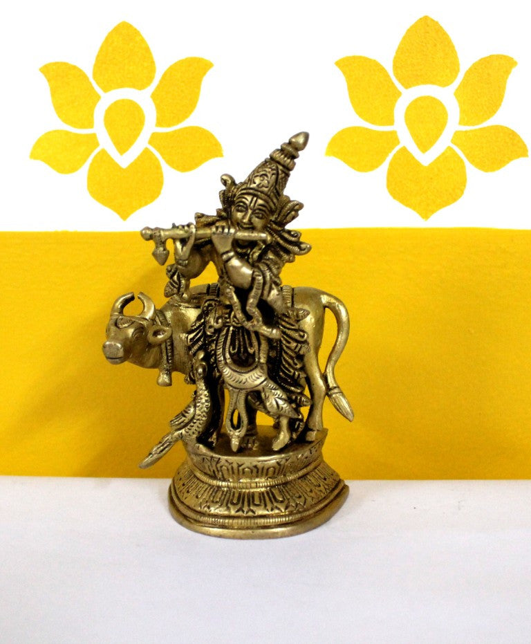 Dhokra Krishna with Cow