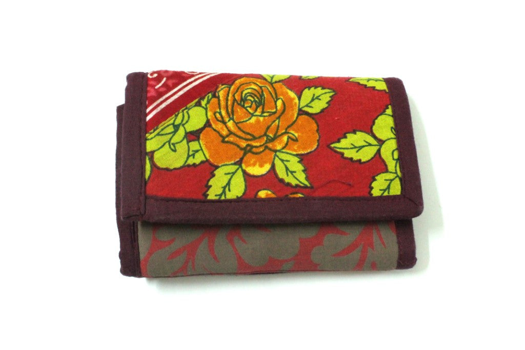 Women Wallet Jute and Fabric