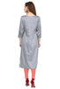 Grey Silk Long Kurta online