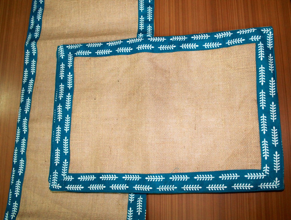 Jute Table Runner + 6 TableMats