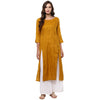 Mustard Long Kurta for women