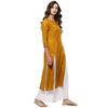 Darzaania Mustard Kurta for women