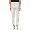 White Ikat Cotton Trousers for women
