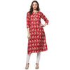 Handblock Kurtis for women by Darzaania