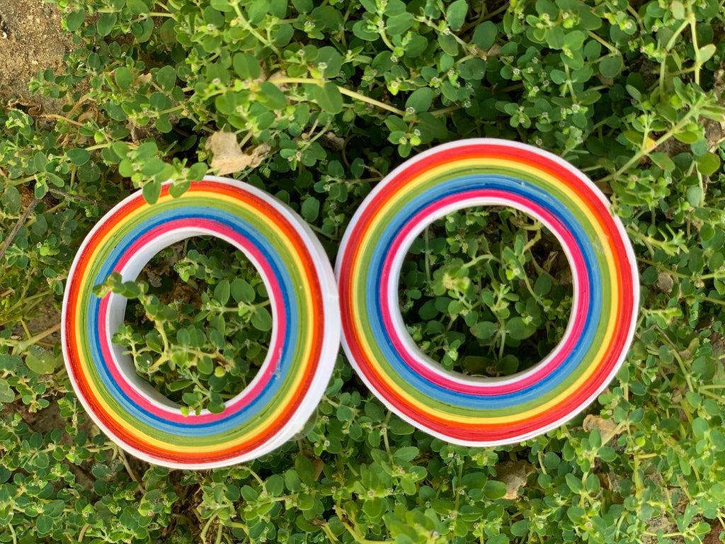 Paper Quilled Rainbow Earring