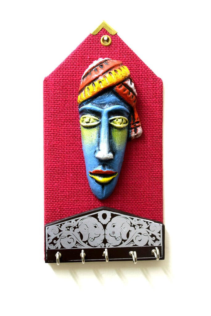 Papier Mache Key Holder - Tribal Art