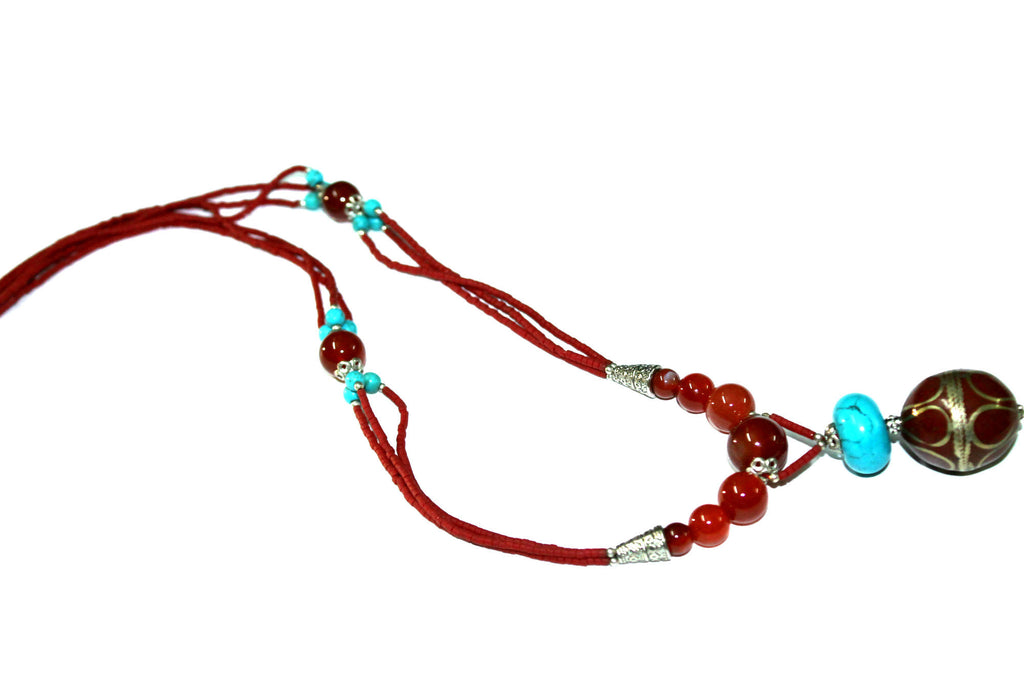 Queen Red Stone Necklace