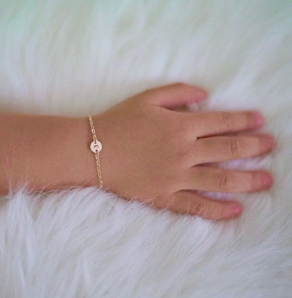 Initial Bracelet in 14k Gold Fill