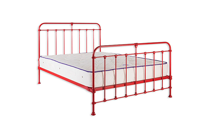 Maud bed with standard height Head & Foot end in Carmine Red