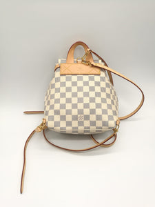 Louis Vuitton Sperone Backpack BB in tela Azur