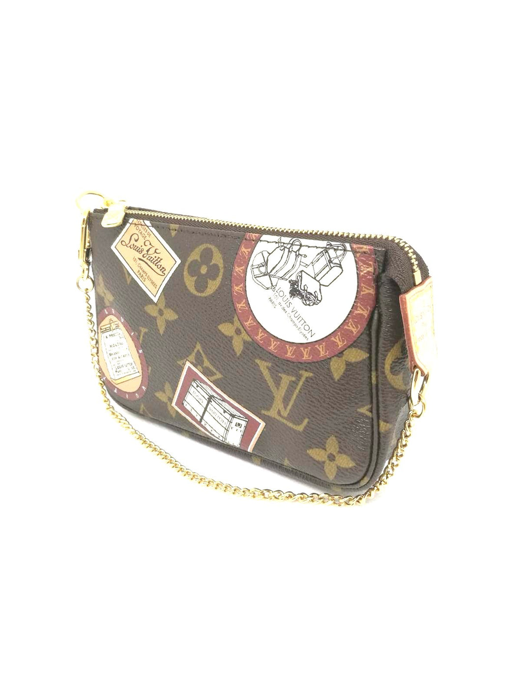 Louis Vuitton mini pochette patch monogram