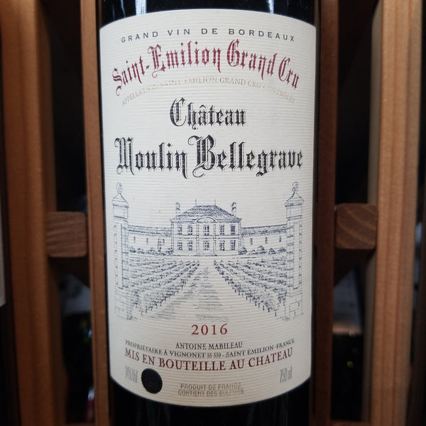 Chateau Moulin Bellegrave St. Emilion Grand Cru 750ml