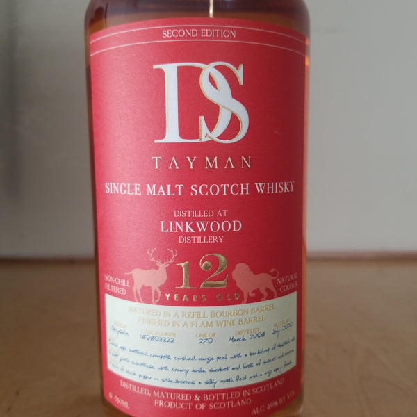 Linkwood 12 Year Old Single Malt Scotch, DS Tayman 750ml