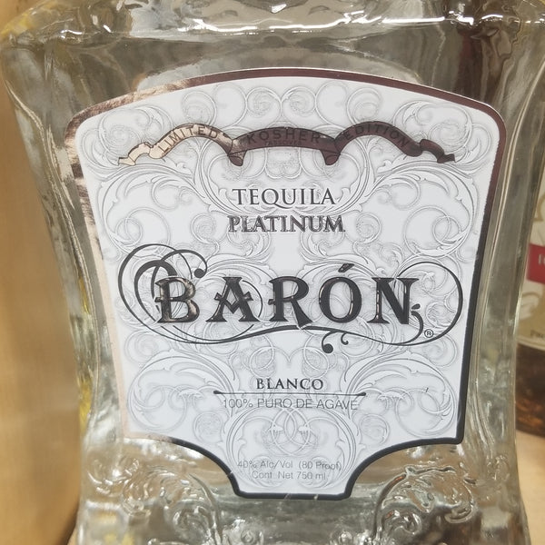 Baron Platinum Tequila 750ml (Kosher for Passover)