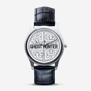 Dan Litchfield Ghost Hunter Celtic Knot Classic Fashion Unisex Print Silver Quartz Watch - Spooked Clothing