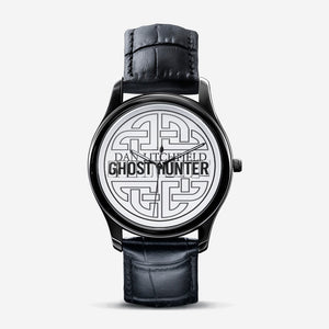 Dan Litchfield Ghost Hunter Celtic Knot Classic Fashion Unisex Print Black Quartz Watch - Spooked Clothing