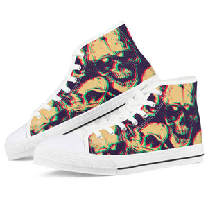 Shade of Death - White High Top Canvas Shoes - Spooked Clothing