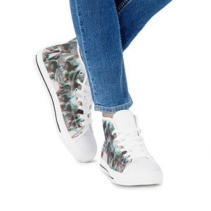 Skull melt - White High Top Canvas Shoes - Spooked Clothing