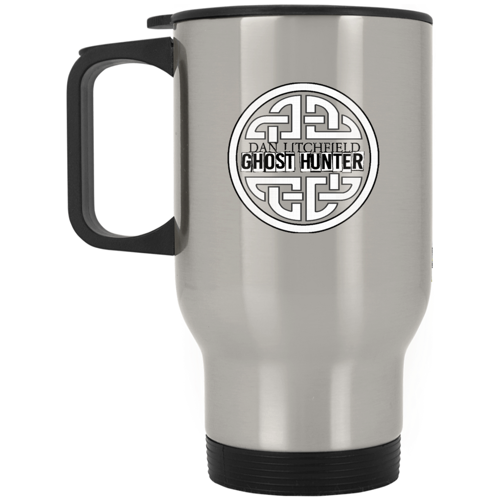 Dan Litchfield Ghost Hunter Silver Stainless Travel Mug - Spooked Clothing
