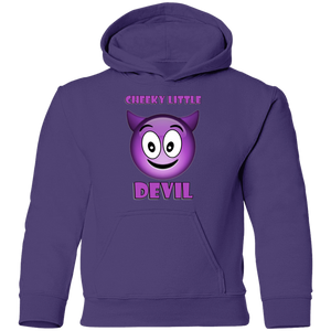 Spooked Cheeky Little Devil Youth Pullover Hoodie - Spooked Clothing