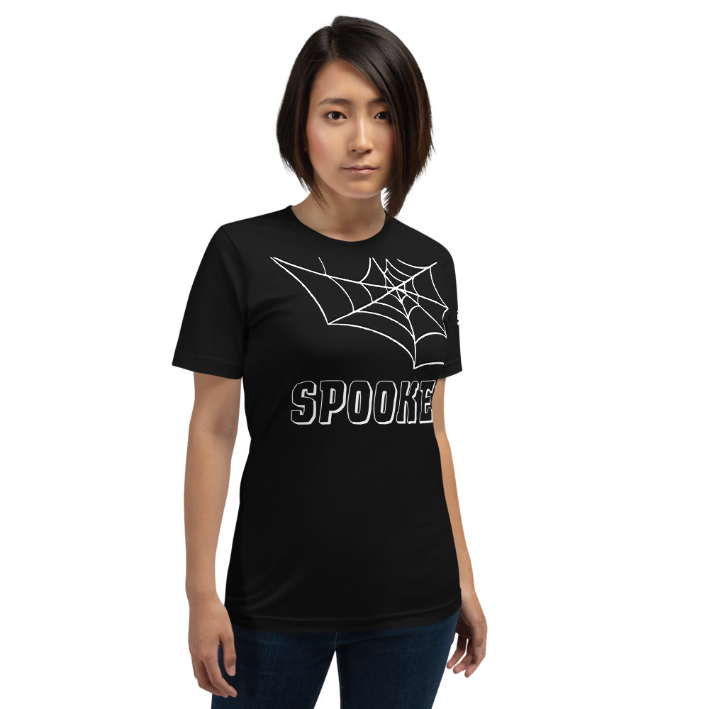 Spooked Web Short-Sleeve Unisex T-Shirt - Spooked Clothing
