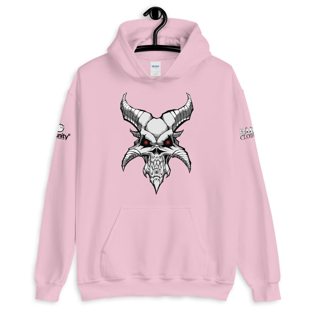 Spooked Demon Skull Unisex Hoodie - Spooked Clothing