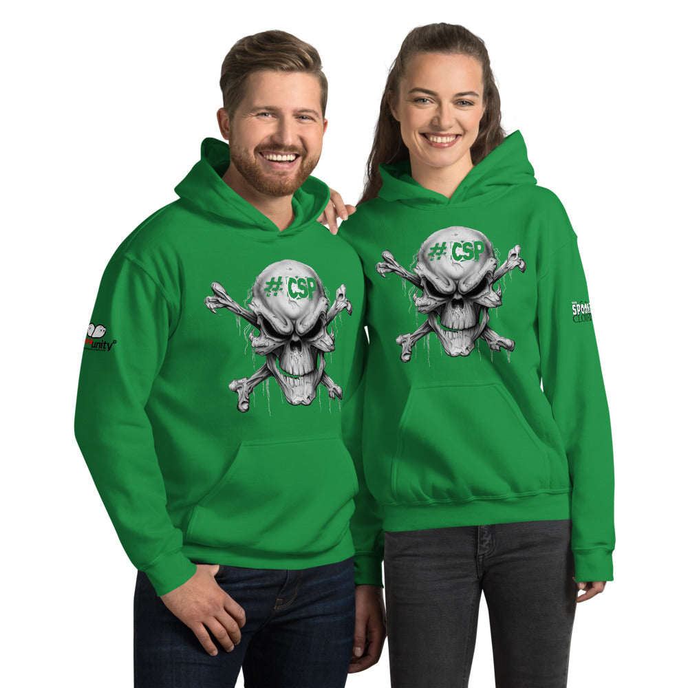 #CSP Skull And Crossbones Unisex Hoodie - Spooked Clothing